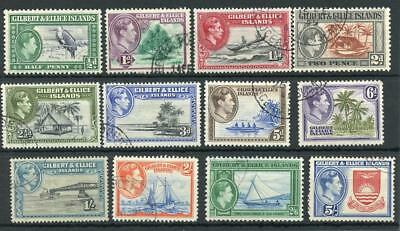Gilbert & Ellice Islands 1939-55 set SG43/54 FU