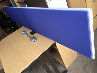Blue Straight Screens Partition Desk Dividers Office Furniture
