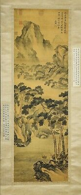 A Chinese Ink and Color Scrolling Painting Wen Zhengmin 文征明