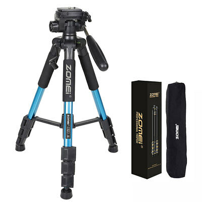 "ZOMEI Q111 55"" Professional Heavy Aluminum Tripod&Pan Head for DSLR Camera Blue"