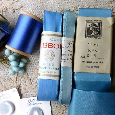 Vintage Silk Thread Ribbons French Buds