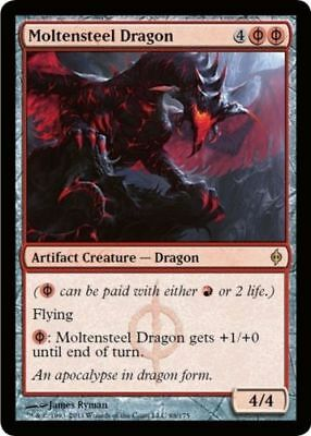 1x MOLTENSTEEL DRAGON - Rare - New Phyrexia - MTG - NM - Magic the Gathering