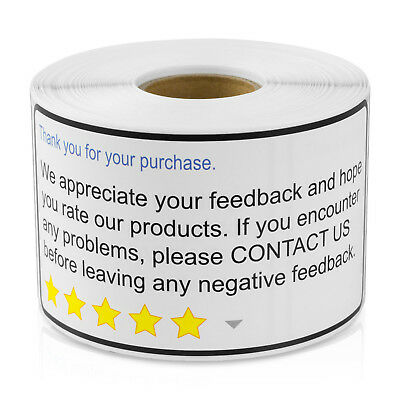 Thank You For Your Purchase Stickers Envelope Self Adhesive Labels (1 Roll)