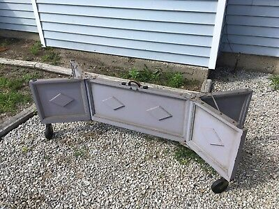 Antique Wooden Coffin Coffee Tea Table Stand Vtg Casket Stand / Cart Bier Gothic