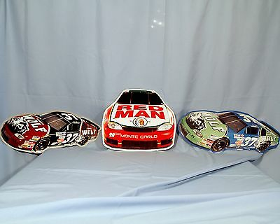 Red Man Tobacco/ Timber Wolf Snuff Metal Signs  Nascar  Set Of 3