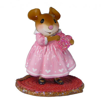 LITTLE SWEETHEART GIRL by Wee Forest Folk, WFF# M-499a, Valentines Mouse