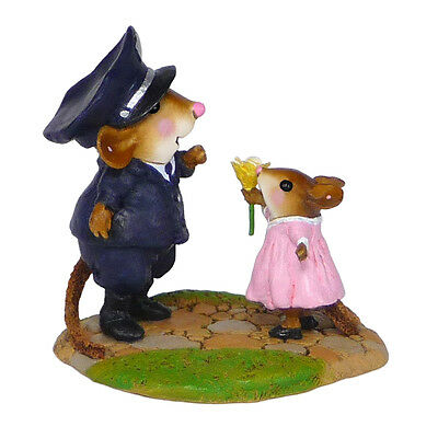 MY HERO by Wee Forest Folk, WFF# M-525, Retired Police Mouse