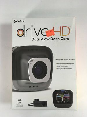 Cobra Drive HD Dual Channel Dash Cam with Bluetooth