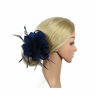 LATIMOON Sinamay Fascinators Feather Flower Derby Hat Pillbox Party Hats with...