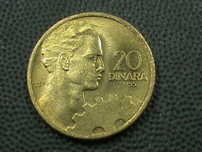 YUGOSLAVIA   20 Dinara   1955   UNC   ,    $ 2.99  maximum  shipping  in  USA