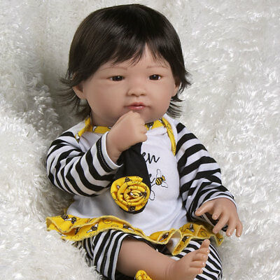 Paradise Galleries Realistic Asian Baby Doll Queen Bee 20 inch Chinese Girl Doll