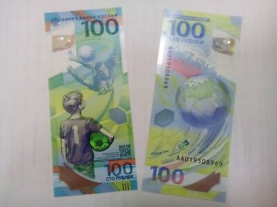 FIFA World Cup 2018 Official Banknote / Russian Hundred 100 Rubles