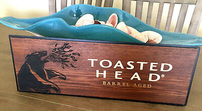 TOASTED HEAD Barrel Aged Wine Fire Breathing BEAR Logo Bar SIGN Display Winery