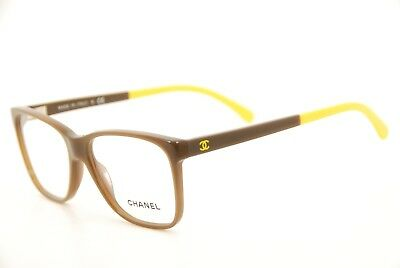462f623075 New Authentic Chanel 3230 c.1336 Brown Yellow 52mm Eyeglasses Frames RX  Italy