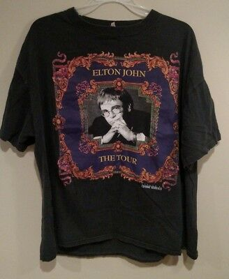 a64e3d0e Vintage Elton John The Tour 1992-93 World Concert Gianni Versace Shirt XL