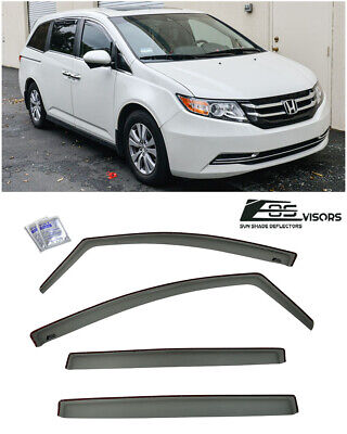 EOS Visors For 08-12 Honda Accord Coupe JDM IN-CHANNEL Side Window Deflectors
