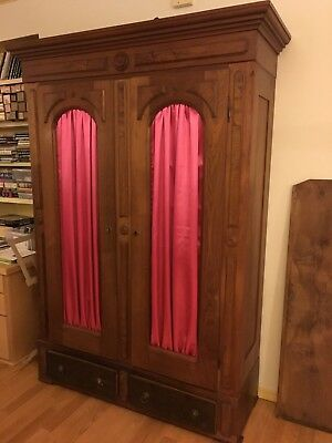 Antique Carved Wooden Armoire