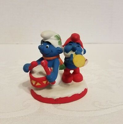 Wallace Berrie Smurf Christmas Collectables Ceramic Figurine 1982