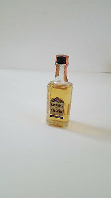 Old empty. Mini Bottle Whiskey Canadian Lord Calvert Tax Stamp Miniature