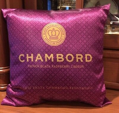 Chambord French Black Raspberry Liqueur Royale De France Throw Pillow
