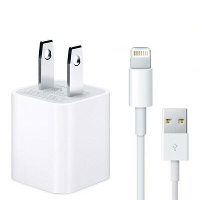 Dual USB Charger Adapter &Cable For Apple iPhone 5 6 6s 7 8 / 3FT, 6FT Lot