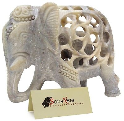 SouvNear Impossible Stone Art  5 Inch Handmade Soapstone Collectible Figurine...