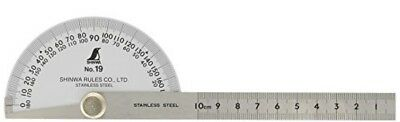 Shinwa japanese Stainless Steel Protractor with Round Head No.19 62480 Import