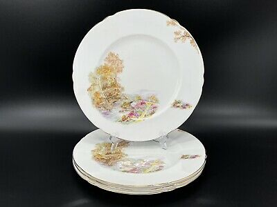 "Shelley Heather 10.75"" Dinner Plates Set Of 4 Bone China England"