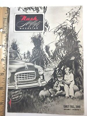 NASH  AIR AUTO FLYTE MAGAZINE, 1949 STAGG MOTOR COMPANY, St. Louis, MO