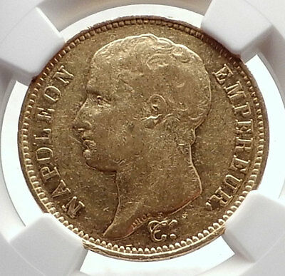 1807 FRANCE Napoleon Bonaparte BIG 40 Francs Antique French Gold Coin NGC i70552