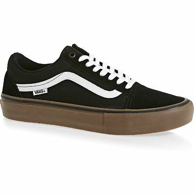 Vans Pro Skate Old Skool Unisex Footwear Shoe - Black White Medium Gum All Sizes