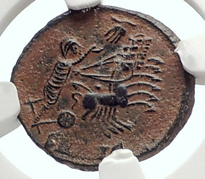 CONSTANTINE I the Great CHARIOT to GOD HAND HEAVEN Ancient Roman Coin NGC i70558