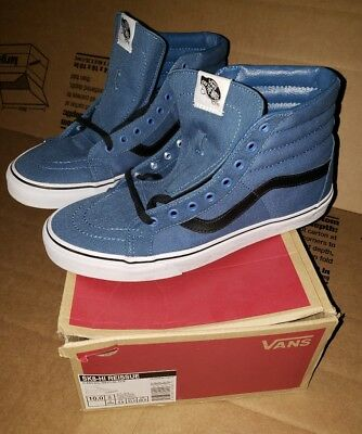 4c7ddf0266 MENS VANS NAVY black canvas sk8 Hi Reissue size 10 w  box -  15.07 ...