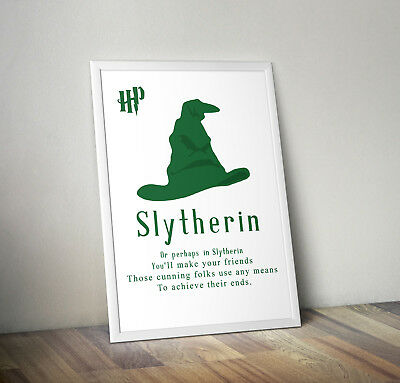 Harry potter Sorting Hat poster print wall art decor hogwarts dobby quote