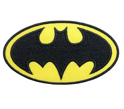 BATMAN LOGO Iron on / Sew on Patch Embroidered Badge Motif Comic Cosplay PT16