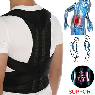 Adjustable Back Support Shoulder Brace Posture Corrector Lumbar Lower Men Women