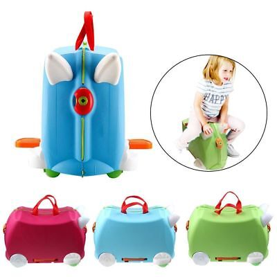 New Trunki Ride on Suitcase Toy Box Children Kids Holiday Travel Luggage Case