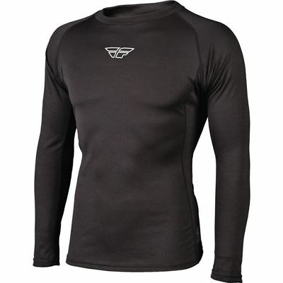 Black Sz S Fly Racing Light Weight Base Layer Top
