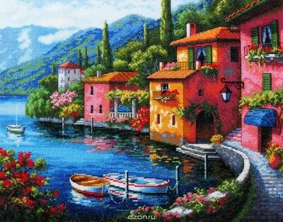 DIMENSIONS  GOLD COLLECTIONS  *LAKESIDE VILLLAGE*CROSS STITCH KIT  Kreuzstich