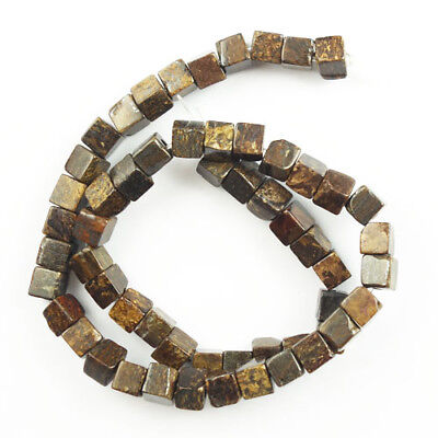 7x7x7mm Natural  Bronzite Cube Loose bead 15.5inch  NN190