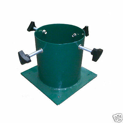"""Barrel Insert Christmas Tree Stand 4.5"""" Green Metal, 7ft (2.1m) Real Cut Trees"""