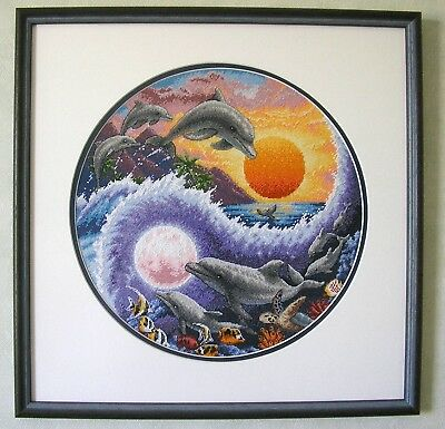 DIMENSIONS  GOLD COLLECTIONS  *SUN AND MOON DOLPHINS*CROSS STITCH KIT  Kreuzstic