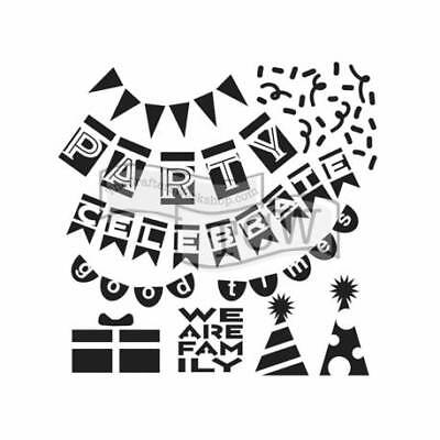 """TCW - The Crafters Workshop, Template 6x6"""" 15x15cm Mini Party Banners"""
