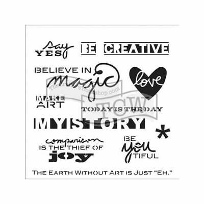 """TCW - The Crafters Workshop, Template 6x6"""" 15x15cm Mini Julie's Words"""