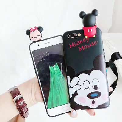 3D Silicone Disney Mickey Doll TPU Phone Case Cover For iPhone X 8 7 6/6S Plus