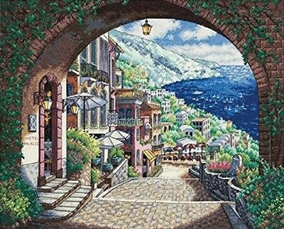 DIMENSIONS  GOLD COLLECTIONS  *COASTAL VIEW*CROSS STITCH KIT  Kreuzstich-Stickpa