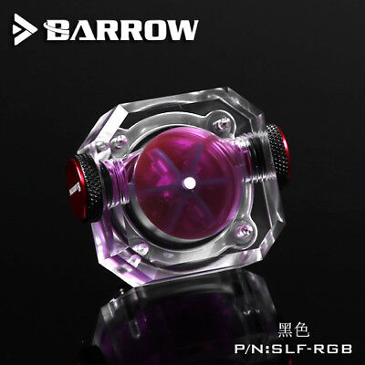 """Barrow G1/4"""" Visual Flow Indicator SLF-RGB for Liquid Water Cooling Systems"""