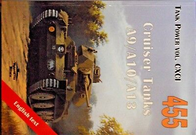 Tank Power No. 455 WW 2 BRITISH CRUISER TANKS A9/A10/A13 With scale drawings.
