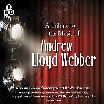 The Music Of Andrew Lloyd Webber  - 3 CD SET - BRAND NEW GREATEST HITS BEST OF