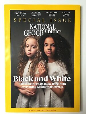 National Geographic April 2018 Black and White Special Race issue - NEW / UNREAD